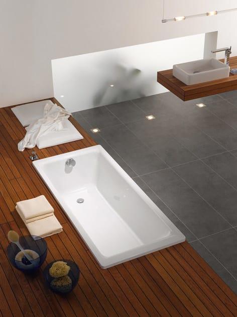 Vasca da bagno rettangolare in acciaio puro kaldewei italia - Smaltare la vasca da bagno ...