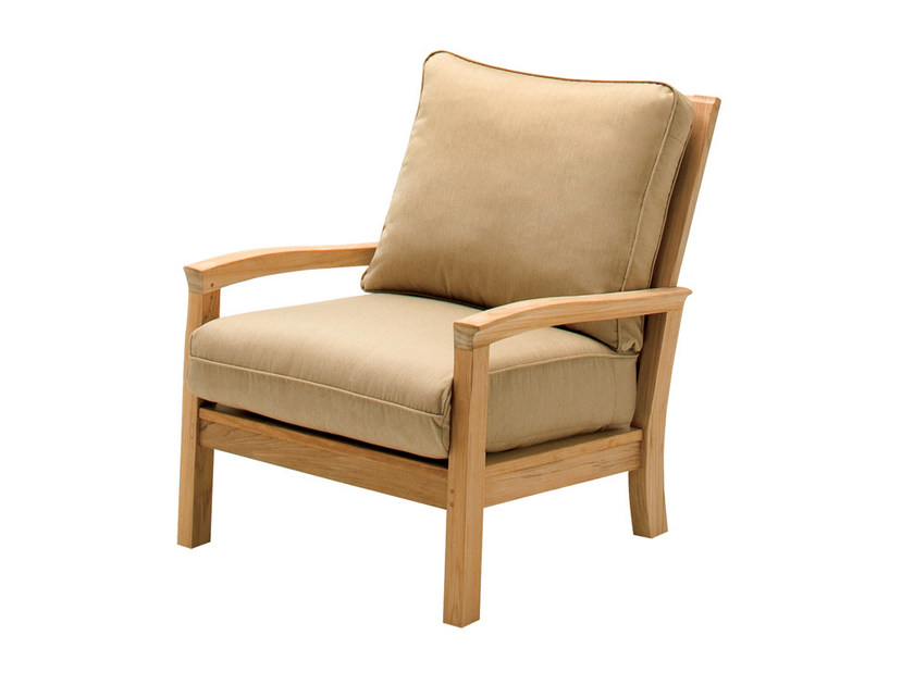 Teak garden armchair with armrests KINGSTON | Garden armchair - Gloster