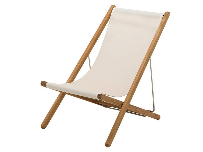 Sedia a sdraio in teak con braccioli collezione riviera by for Sedia design svedese