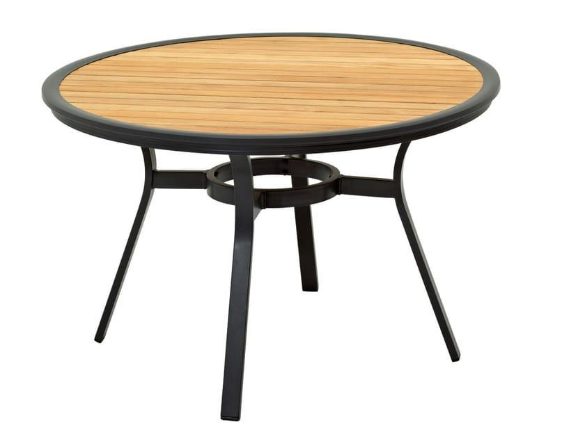 Tavolo da giardino rotondo in alluminio collezione roma by - Tavolo rotondo da giardino ...