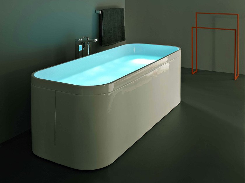 Freestanding acrylic bathtub GEO 170X70 - Kos by Zucchetti
