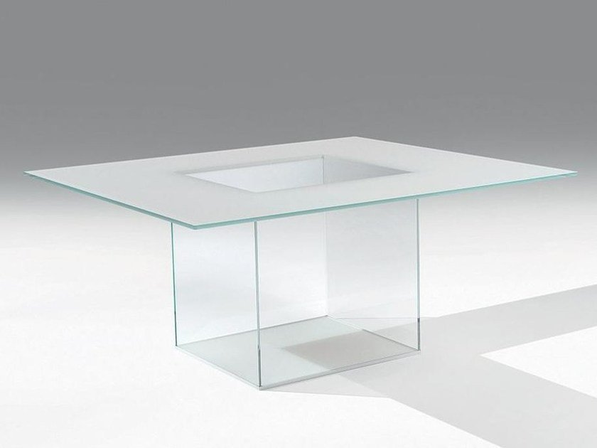 Square glass table ICARO | Square table by Casali