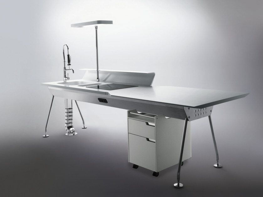 Corian® Mini Kitchen SOLARIS by ERNESTOMEDA