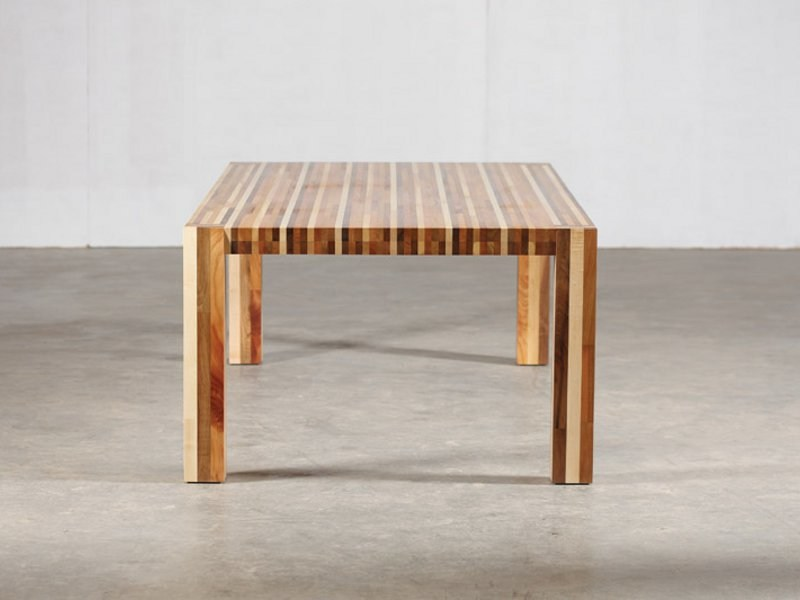 Rectangular wooden table KILIM - Artisan