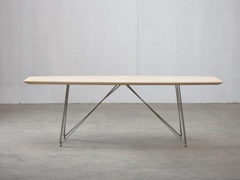 Rectangular wooden table LINEA | Table - Artisan