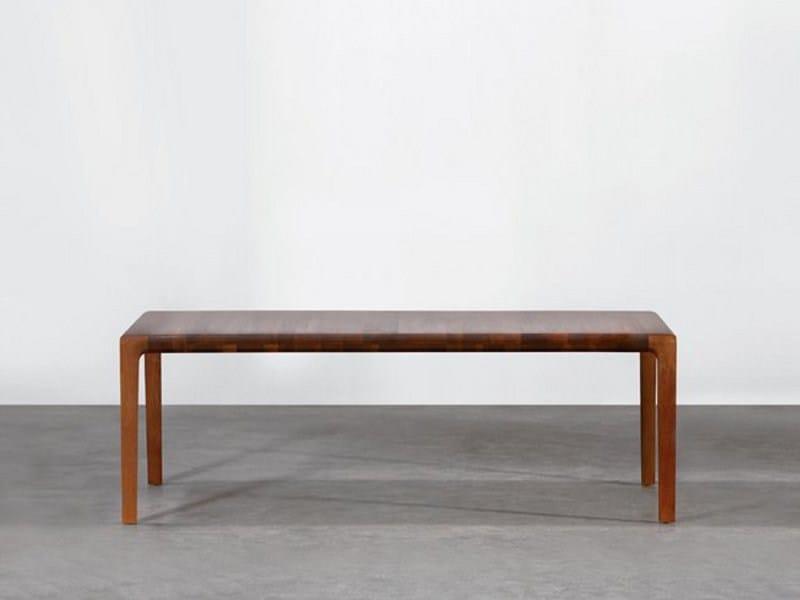 Extending rectangular wooden table INVITO | Extending table by Artisan