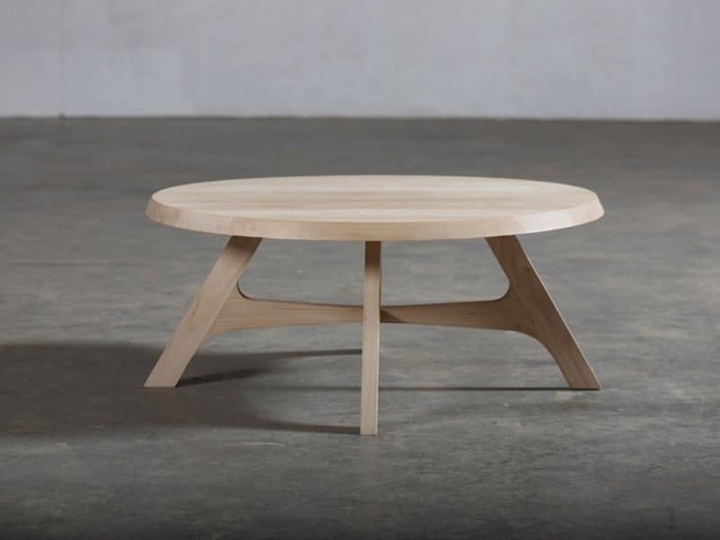 Round wooden coffee table ZERO - Artisan