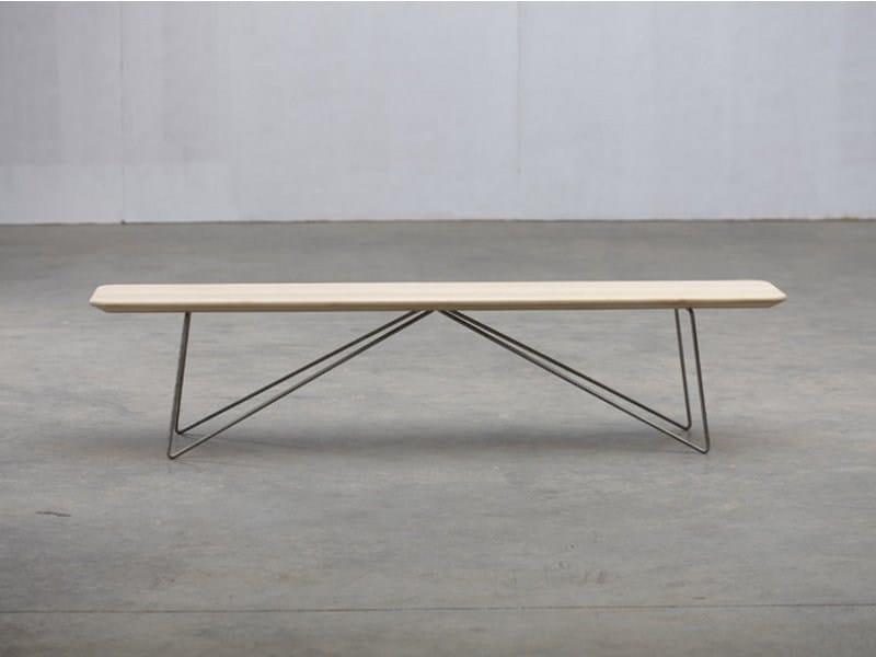 Wooden bench LINEA | Bench - Artisan
