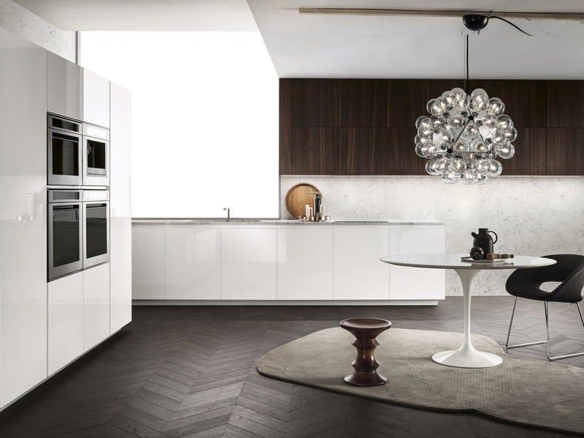 Linear wood veneer kitchen ONE - ERNESTOMEDA