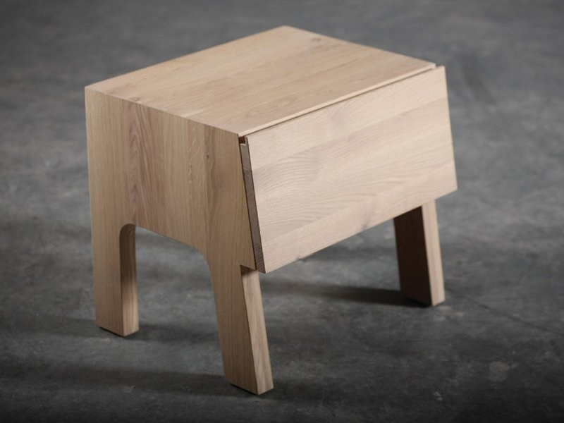 Wooden bedside table with drawers TABLAS | Bedside table - Artisan