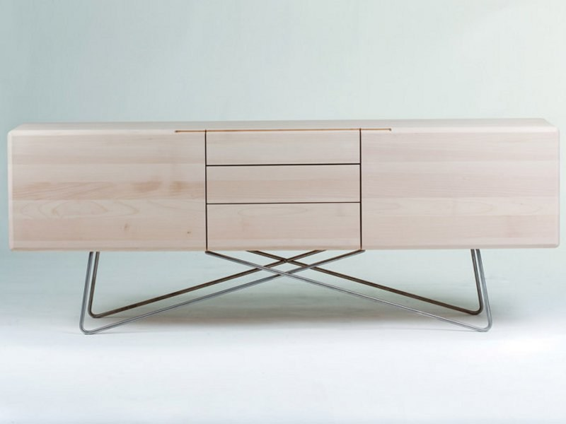Wooden sideboard LINEA | Sideboard - Artisan