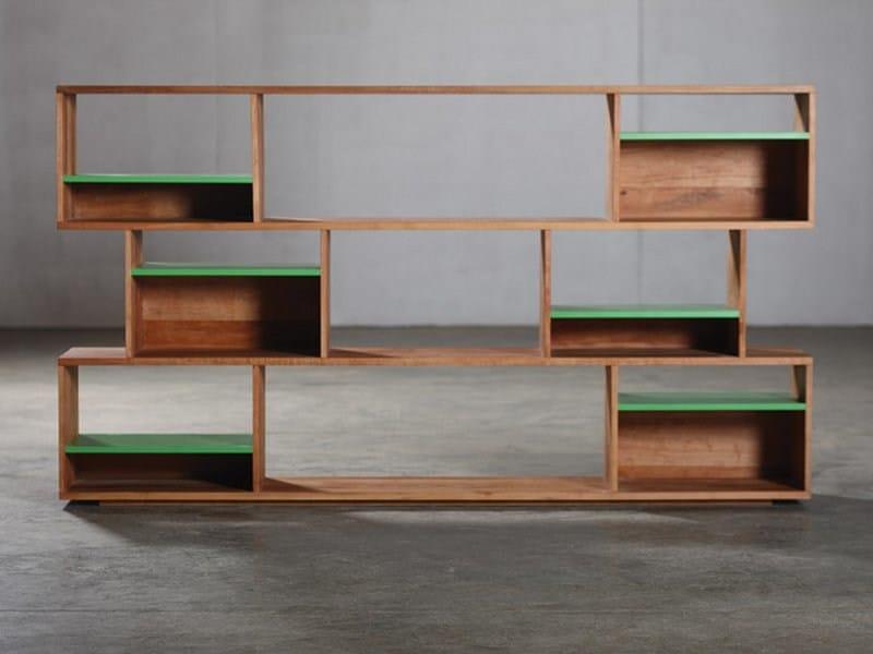 Modular wooden bookcase H - Artisan