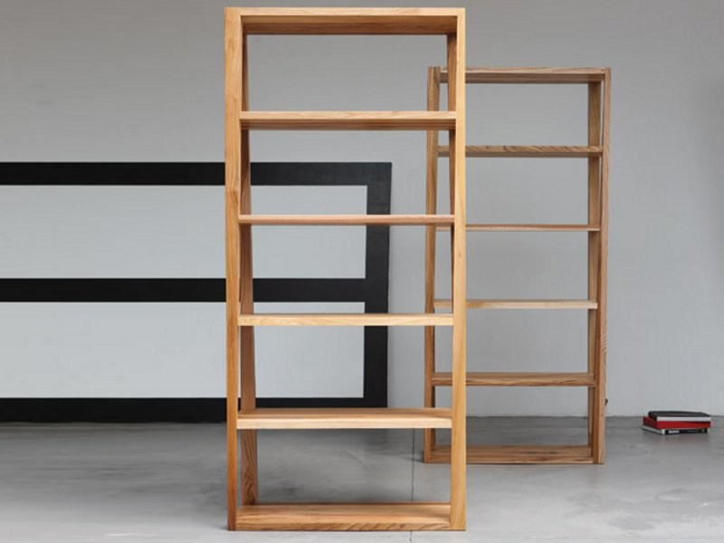 Wooden shelving unit BASIC | Bookcase - Artisan
