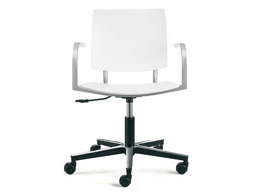 Task chair with 5-Spoke base with casters BIO-L | Task chair with armrests - ENEA