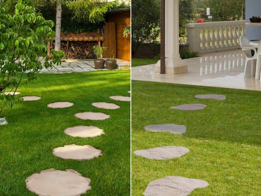 Camminamento in pietra ricostruita tronc sas italia - Camminamento pietra giardino ...