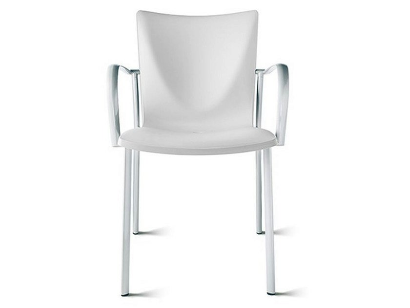 Polypropylene chair with armrests TALK | Chair with armrests - ENEA