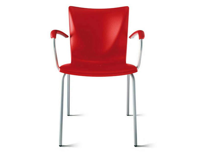Polypropylene chair with armrests TALKY | Chair with armrests - ENEA