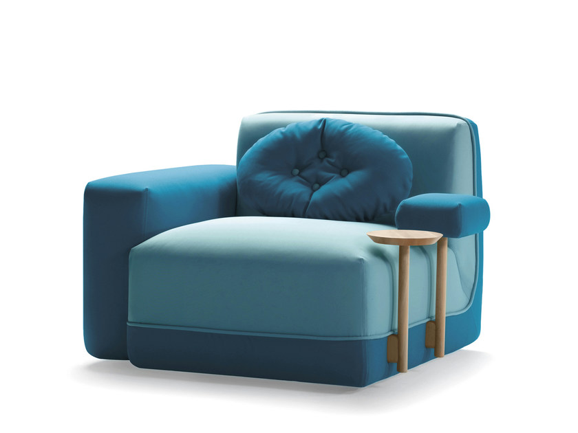 Fabric armchair with armrests PARTY | Armchair by SANCAL