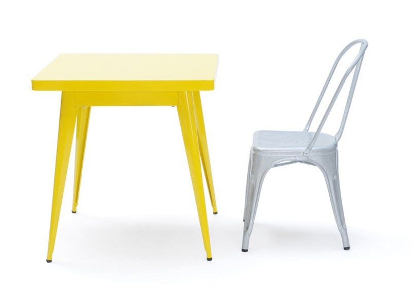 Square metal table 55 | Square table by Tolix
