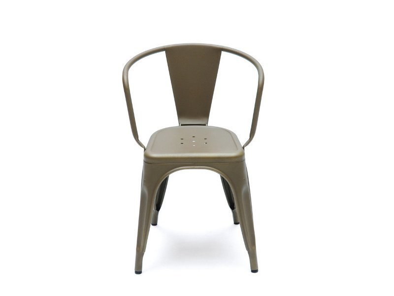 Metal chair with armrests A56 | Metal chair by Tolix