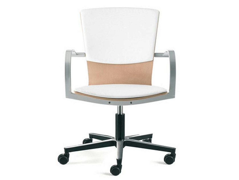 Task chair with 5-Spoke base with armrests LOGICA | Task chair with armrests - ENEA