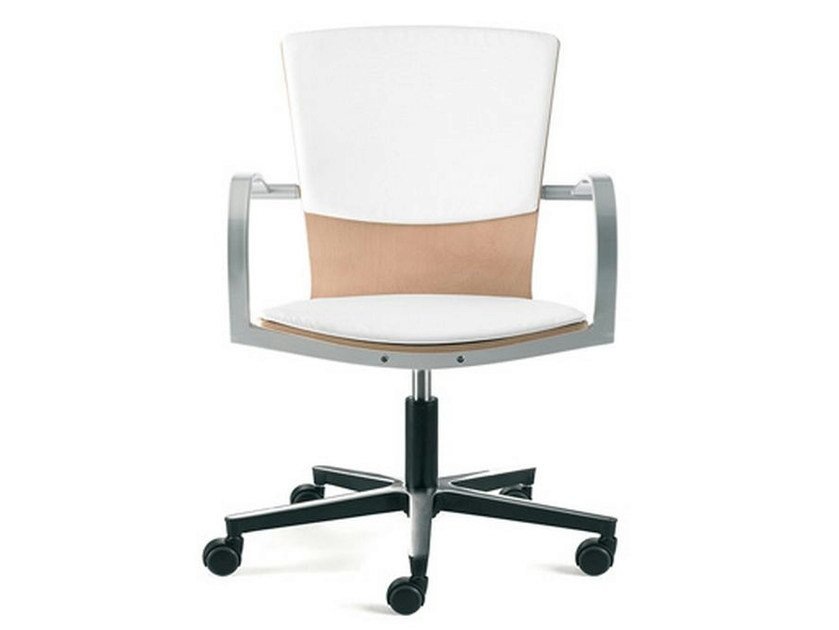 Swivel chair with casters LOGICA | Swivel chair - ENEA