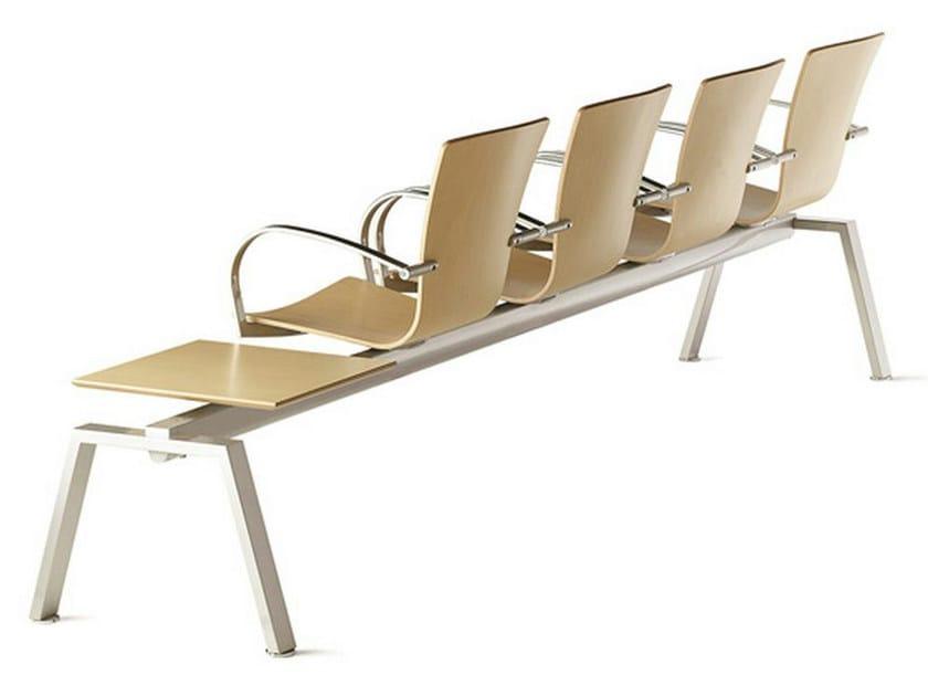 Steel and wood beam seating LOGICA | Beam seating - ENEA