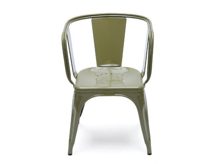 Metal chair with armrests D | Metal chair - Tolix Steel Design