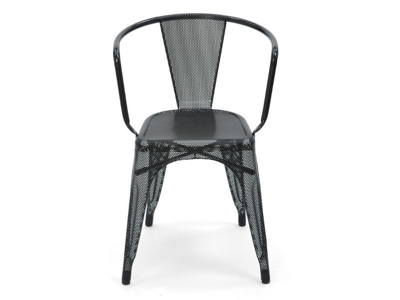 Wire mesh chair with armrests A56 | Wire mesh chair by Tolix