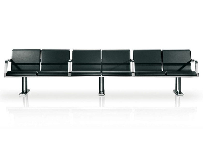 Beam seating with armrests OPEN - ENEA