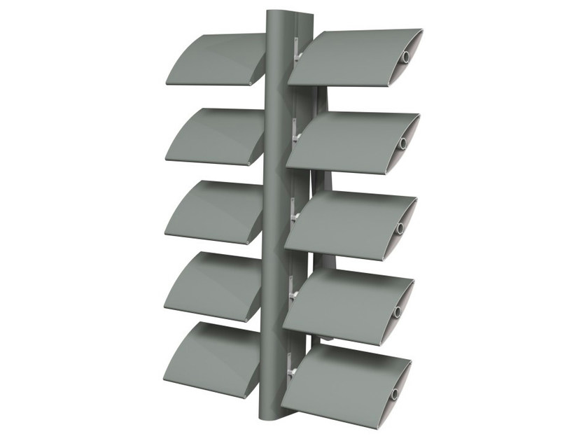 Sunscreening system for facade Brise Soleil 100 by Reynaers Aluminium