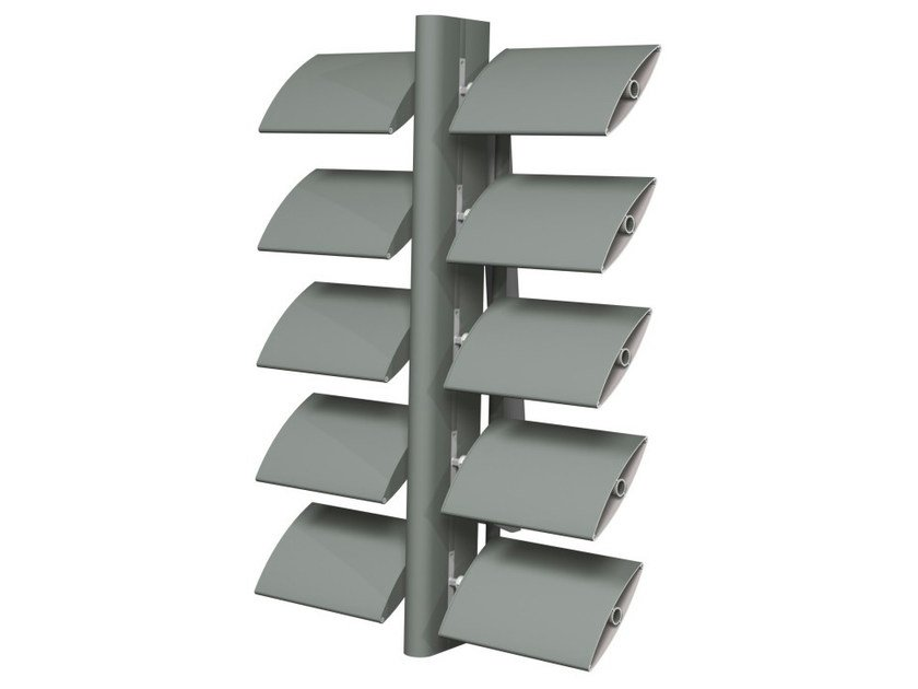 Sunscreening system for facade Brise Soleil 100 - Reynaers Aluminium