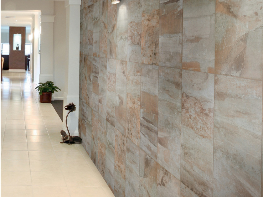 Porcelain stoneware wall tiles with marble effect CEBREIRO - REALONDA