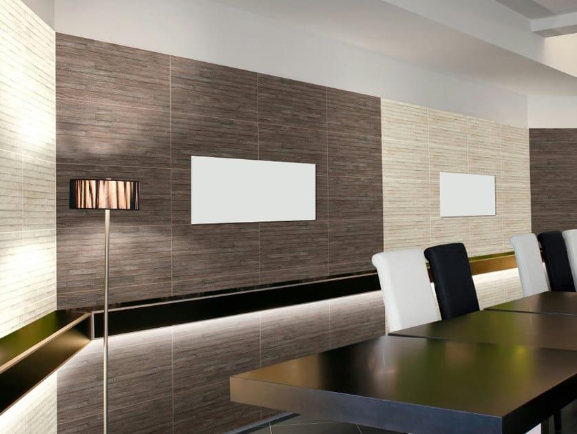 Rivestimento in gres porcellanato effetto legno forest realonda - Rivestimento pareti interne in legno ...