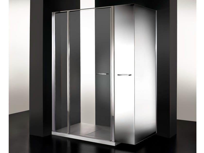 Box doccia in cristallo con vano estraibile TWIN MINI - VISMARAVETRO