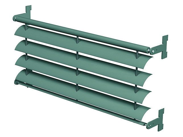 Sunscreening system for facade Brise Soleil 20 by Reynaers Aluminium