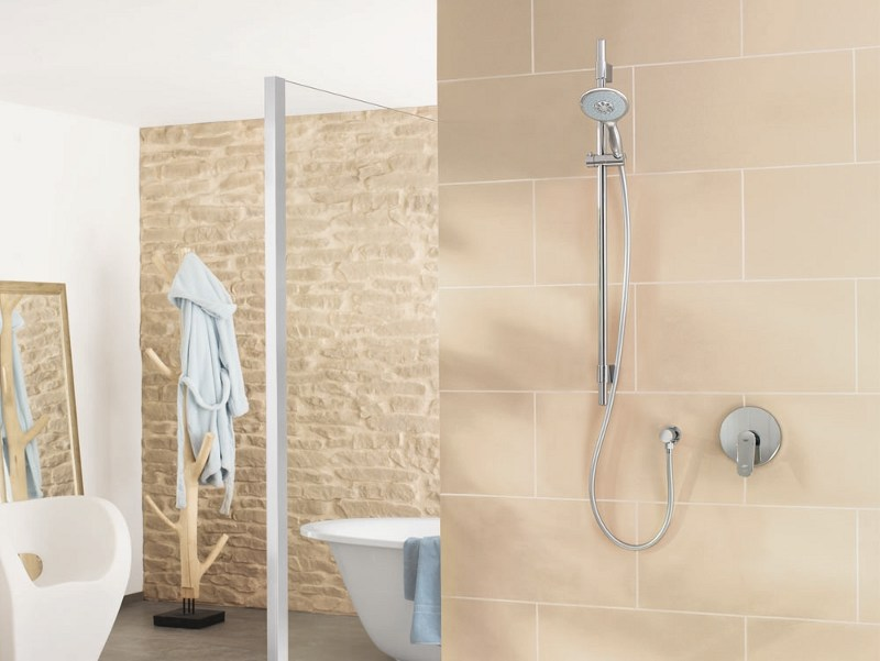 Shower panel with overhead shower POWER&SOUL™ SYSTEM by Grohe