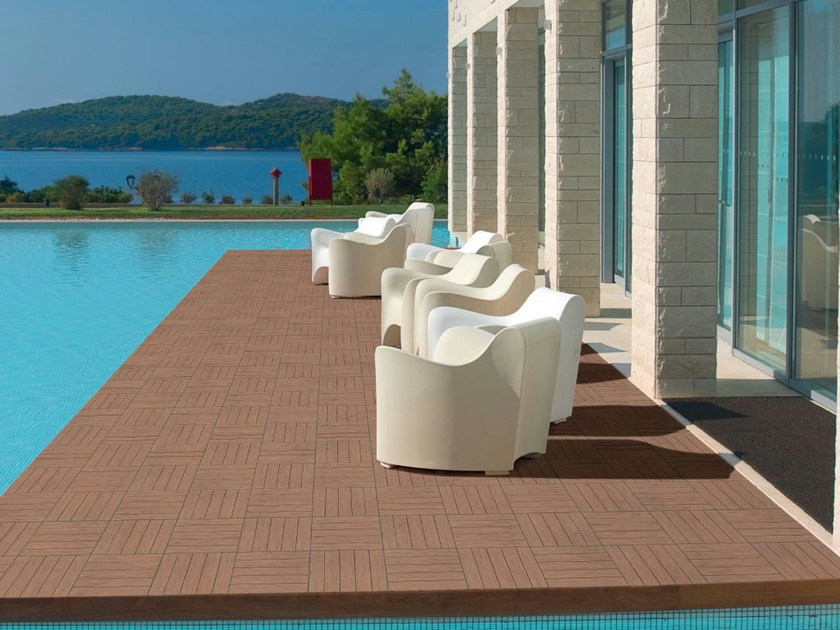 Porcelain stoneware outdoor floor tiles KERA SPA - REALONDA