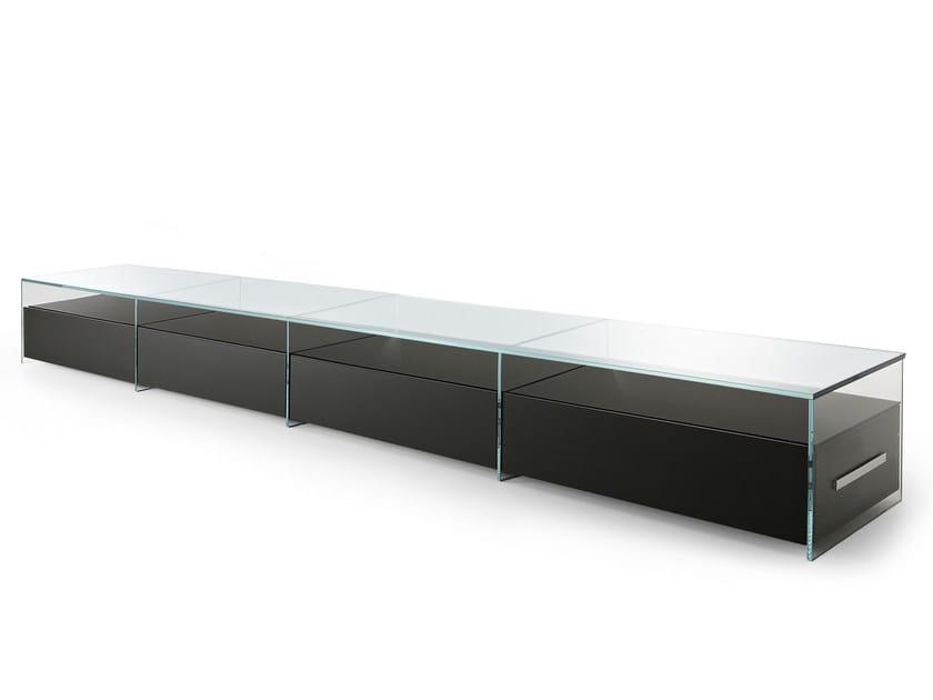 Crystal sideboard / office storage unit AIR UNIT by Gallotti&Radice