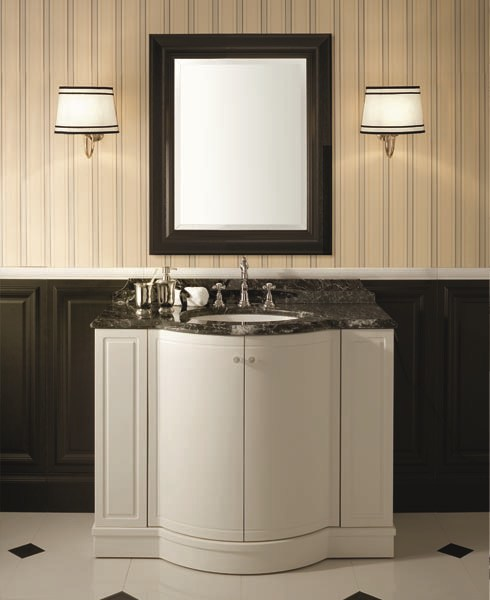 Classic style lacquered vanity unit BOSTON 100 | Single Vanity unit - GENTRY HOME