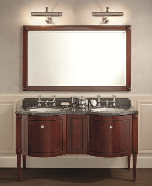 Classic style double mahogany vanity unit CHESTER | Double Vanity unit - GENTRY HOME