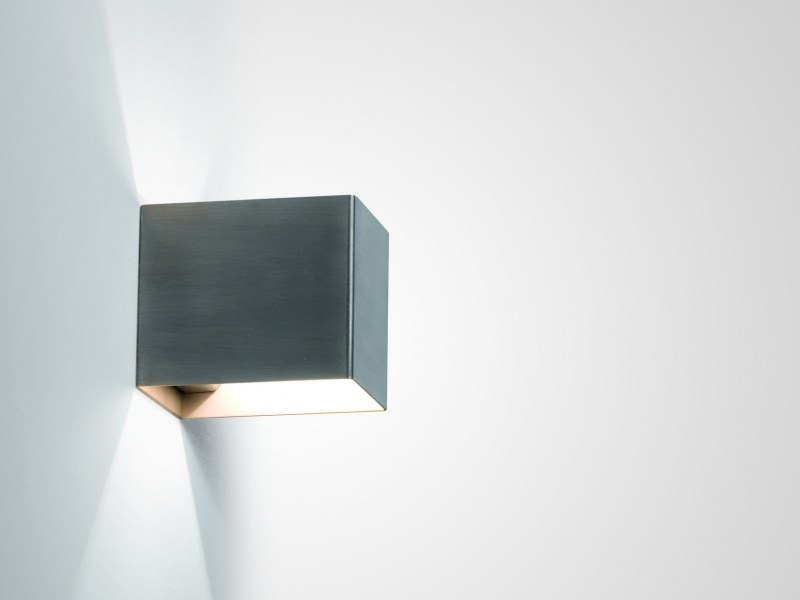 Direct-indirect light stainless steel wall lamp RIGO - LUCIFERO'S