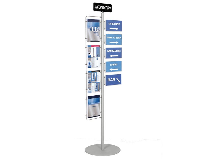 Double-sided column display stand INFO-POINT - GEPROM design