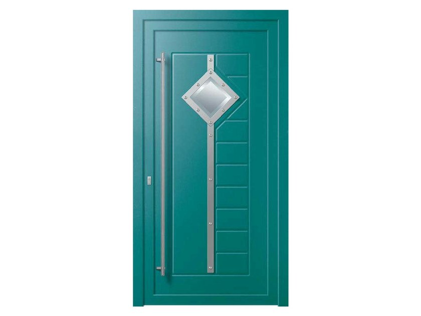 Glass and aluminium door panel QUADRA/XD1 - ROYAL PAT