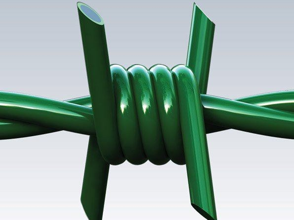 Barbed wire, drawn steel wire RICCIO PVC - Gruppo CAVATORTA