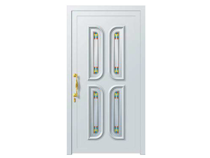 Glass and aluminium armoured door panel PEGASO/K4 - ROYAL PAT
