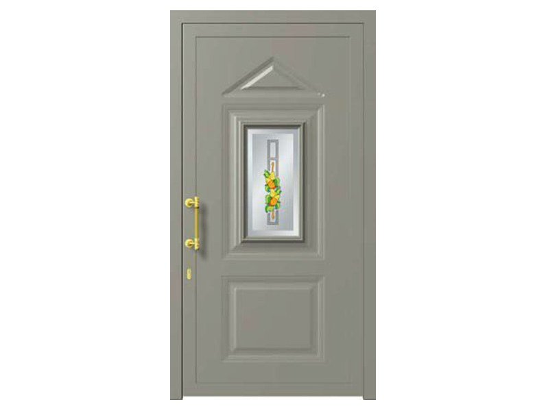 Glass and aluminium armoured door panel VICTORIA/K1 by ROYAL PAT