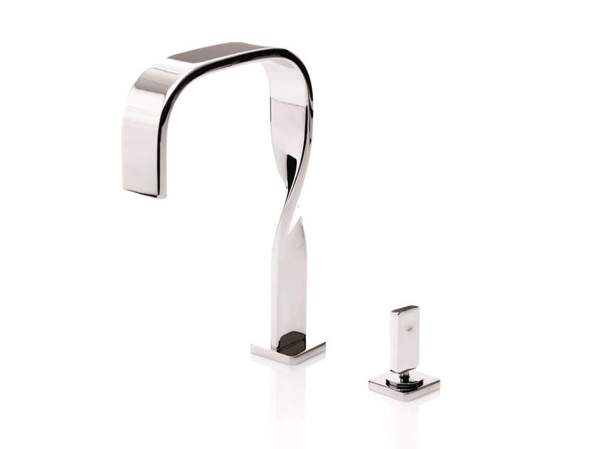 2 hole single handle washbasin mixer NASTRO | 2 hole washbasin mixer - RUBINETTERIE RITMONIO