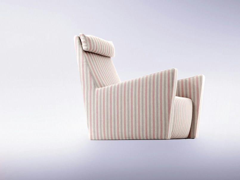 Upholstered armchair with headrest FILOSOFIA by ERBA ITALIA