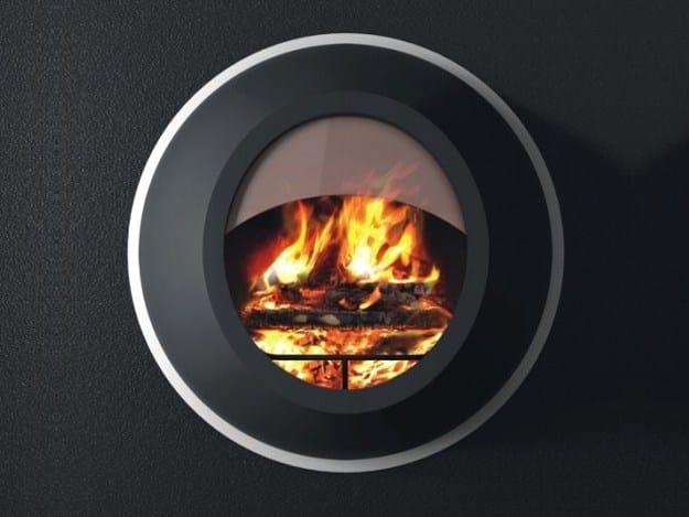 Wall-mounted steel fireplace MAUNAKEA | Wood-burning fireplace - ANTRAX IT radiators & fireplaces